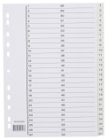 Register 1-54 A4 hvit plast m/indeksark 943290