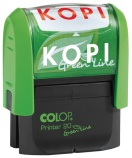 Stempel COLOP GL Printer 20/L kopi rød 135947