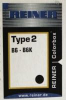 Stempelpute Reiner sort type 2 B6K/Horray H56 CB-2-S