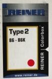 Stempelpute Reiner rød type 2 B6K/Horray H56 CB-2-R