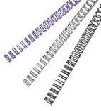 Metallspiral GBC 6mm 3:1 hvit (100) (Org.nr.RG810470)