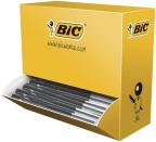 Kulepenn Bic M10 sort medium Clic m/trykkmek. (100) 896042