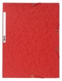 Strikkmappe Exacompta rød m/3klaffer kart. 55505E