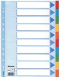 Skilleblad 10-Delt A4 Ass.Farg kart.100193