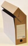 Arkivboks A4 11 cm brun papp 20249500 d.330xb.110xh.245mm.