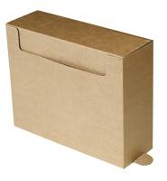 Arkivboks A4 9,5cm.m/tunge brun mass.papp 20240012