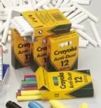 Kritt Crayola rundt støvfritt 12 farger