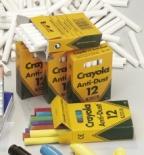 Kritt Crayola rundt hvitt støvfritt (12)