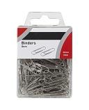 Binders 30mm i plasteske forniklet (100) 7397994