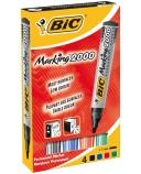 Merkepenn Bic 2000 4 ass.farg. 2mm rund spiss 820911