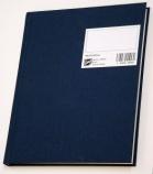 Protokoll 17x21cm. linjert 96 blad blå A5 (org.nr.PL0001567)