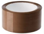 Pakketape 50x66 brun lydløs PP 28my 130135