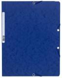 Strikkmappe Exacompta A4 blå u/klaff. kart. 5512E