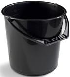 Bøtte plast 10L sort rund 1111-0201