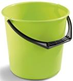 Bøtte plast 10L limegrønn rund 1111-0802