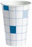 Pappbeger u/hank 20cl blå/hvit (100) (org.nr.30185158)