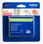 Tape Brother TZEMQG35 hvit/lime 12mmx5m