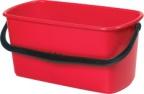 Bøtte plast 23L rød rektangulær solid L-4868