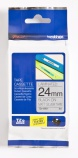 Tape Brother TZEM951 sort/sølv 24mmx8m