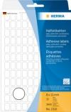 Etikett HERMA manuell 8x12mm hvit (3840) (Org.nr.2310)