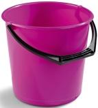 Bøtte plast 10L rosa rund 1111-1600