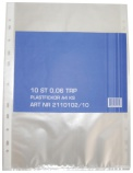 Plastlomme A4 toppåpning (10) klar 60my 2110102/10