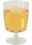 Plastglass vin 15cl fast stett (10) (org.nr.1410)