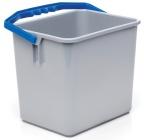 Bøtte Lilleborg plast 6L grå m/blått håndtak 7326