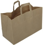 Bærepose papir (250) 17L brun PBPSTD0001