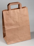 Bærepose papir (100) brun 260x155x340 61830
