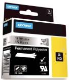 Tape Dymo Rhino 12mmx5,5m metall/gul polyester 18486