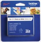 Tape BROTHER TZE231S2 12mmx4m sort/hvit