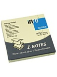 Notatblokk Z-Notes 75x75mm gul 5644-01