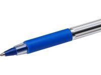 Kulepenn Bic Cristal Grip blå med. m/hette 802801
