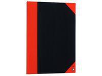 Kinabok A5 96 blad linjer sort/rød (org.nr.1165-00)
