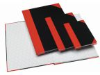 Kinabok A6 96 blad linjer sort/rød (org.nr.1164-00)