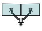 Skjermarm KENSON Twin Gasslift LCD Sort (org.nr.10046BL)