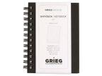 Spiralbok Grieg Sort A7 linj. 128s. (org.nr.266630)