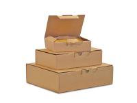 Posteske låseklaff 150x100x70mm brun(25)(Org.nr.90114)