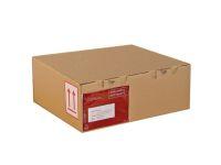 Posteske låseklaff 345x230x80mm brun(25) (Org.nr.9027)