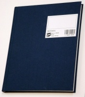 Protokoll 17x21cm. ruter 96 blad blå A5 kvart (org.nr.270132)