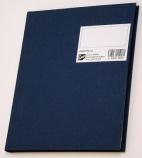 Protokoll 17x21cm. linjert 96 blad m/gj.reg. blå A5 kvart (org.nr.270270)
