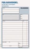 Følgeseddel A5 sk. 3x50 nummerert (org.nr.272053)