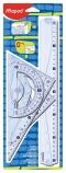 Linjal Maped sett linjal/vinkel/transportør