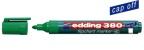 Flippoverpenn Edding 380 grønn rund 1,5-3mm