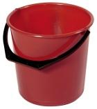 Bøtte plast 10L rød rund 1111-0300