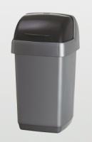 Avfallsbeholder sølv m/rullelokk 10L. 510504