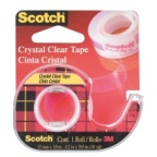 Tape Scotch Crystal 600 12mmx10m. m/dispenser Scotch