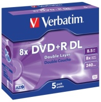 DVD+R Verbatim Double layer JC (5) 8,5gb 8x