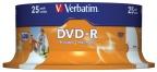 DVD-R Verbatim Spindel print.(25) 4,7gb 16x 43538